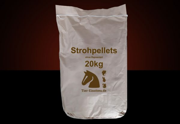 NEU! Im Papiersack: 20kg STROH-Pellets ohne Raps ab Lager