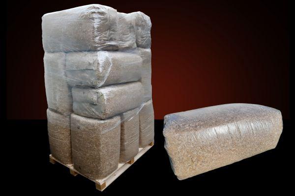 + 1x Rotteförderer GRATIS! 15x25kg= 375kg Miscanthus /Elefantengras gehäckselt und entstaubt in Ball