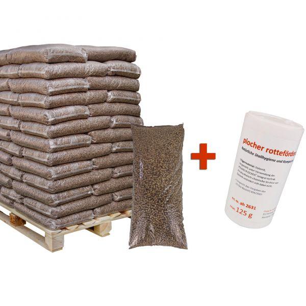 GRATIS Rotteförderer + Pferdeeinstreu - Leinstroh Pellets   auf 726 kg Palette   inkl. Versand