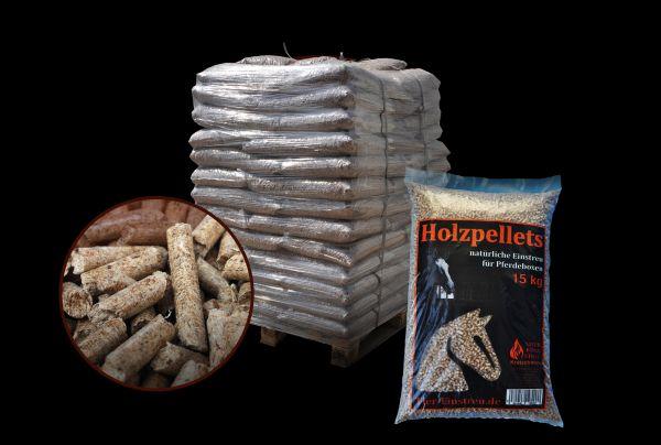 Standard Holzpellets aus Nadelholz | 960 kg Palette (64 Säcke x 15 kg) als Pferde & Tiereinstreu
