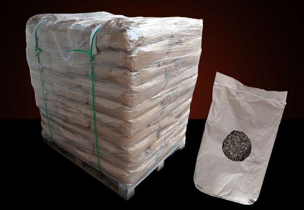 Strohpellets als Pferde-& Tiereinstreu | 960 kg auf Palette in Papiersäcken