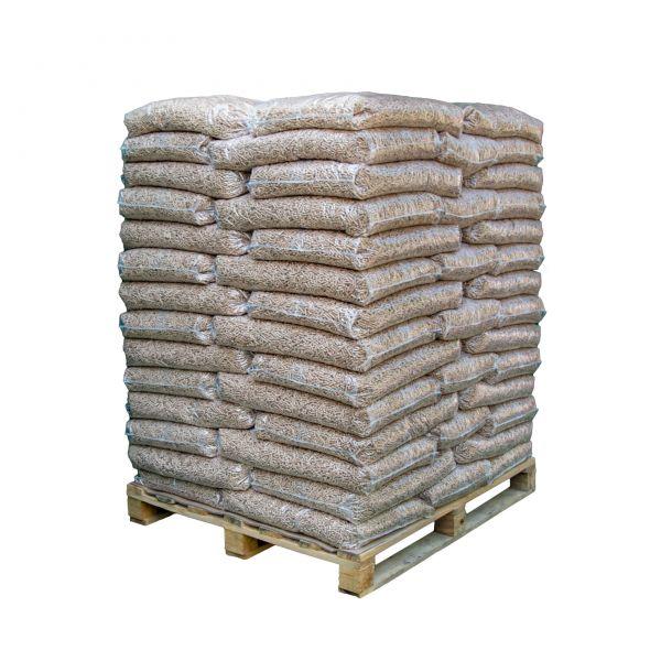 Standard-Holzpellets | 960 kg Palette (64 Säcke x 15 kg) als Pferdeeinstreu mit Lieferung