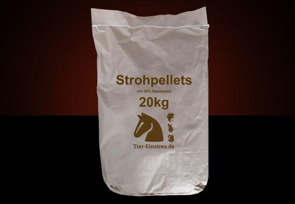 NEU! Im Papiersack: 20kg STROH-Pellets mit 50% Raps ab Lager