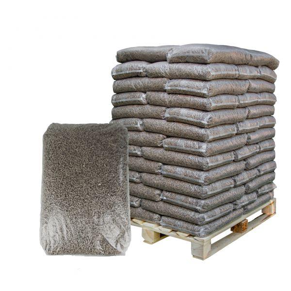 Strohpellets ohne Rapsanteil als Pferdeeinstreu | 960 kg Palette | Je 15 kg Plastiksäcke